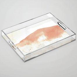 Terra Cotta Hills Abstract Landsape Acrylic Tray