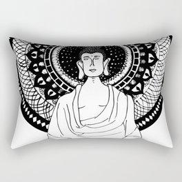 The Monk- White Rectangular Pillow