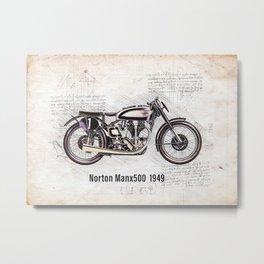 Hobbie Motorbike Metal Print