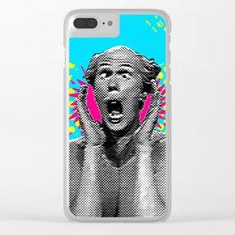 Shouting Man Pop Art Clear iPhone Case
