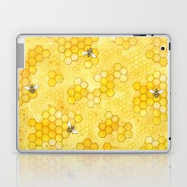 Meant to Bee - Honey Bees Pattern Laptop & iPad Skin