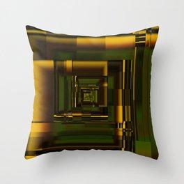 Corridors of Gold Throw Pillow