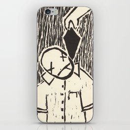 "Original Art, Linocut Print, ""Overkill"" iPhone Skin"
