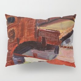 Classical African American Landscape 'Over the Harlem Rooftops' by Malvin Gray Johnson Pillow Sham