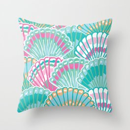 Sea Shell Pattern Throw Pillow