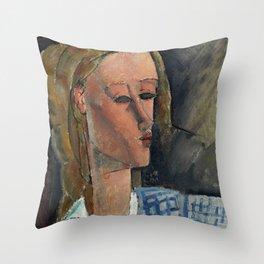"Amedeo Modigliani ""Beatrice Hastings"", 1916 Throw Pillow"