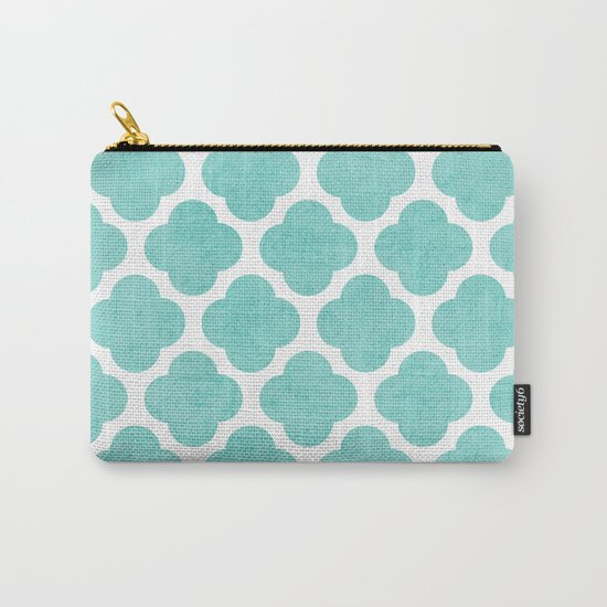 teal clover Carry-All Pouch