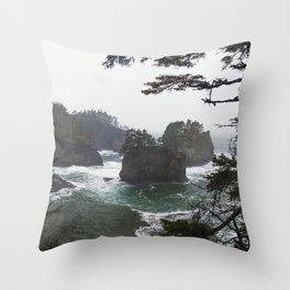Cape Flattery Ocean Blue Throw Pillow