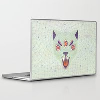 cosmic Laptop & iPad Skins featuring Cosmic Cat by LordofMasks