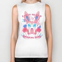 sylveon Biker Tanks featuring Magical Girl Sylveon by Anjila