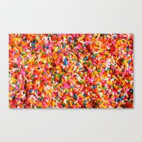 sprinkles Canvas Prints featuring Sprinkles! by MartiniWithATwist