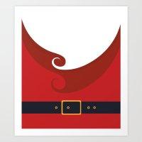 santa Art Prints featuring Santa by Sara Eshak