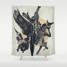 Black Powder Shower Curtain