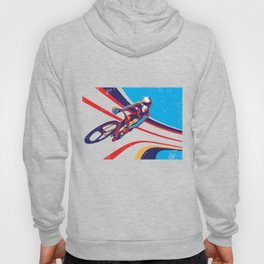 retro track cycling poster print G Force Hoody