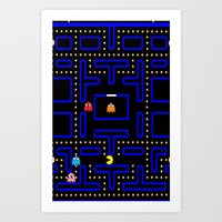 pacman Art Prints featuring Pacman by Dano77