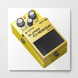 Super Cheese Guitar Pedal Metal Print