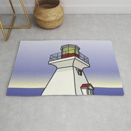 Lighthouse Sea Scene Rug
