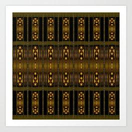 Golden Clasp Pattern Art Print