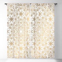 gold, Arabic, Art, Leaf, Light ,Metal ,Yellow, flowers, Blackout Curtain