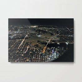 NYC Night Life Metal Print