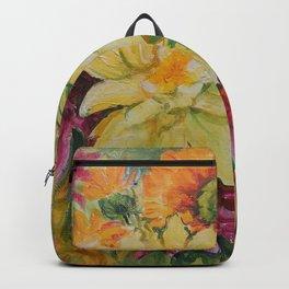 Autumn Garden Flowers Autumn color Floral Painting Ceylon Yellow Fall decor Backpack