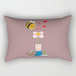 Bee in love Rectangular Pillow