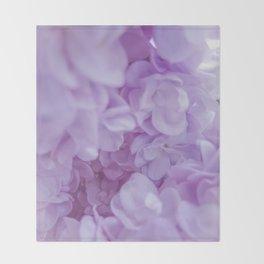 Lyrical Lilacs Throw Blanket
