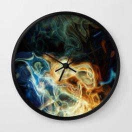 Smoke background Wall Clock