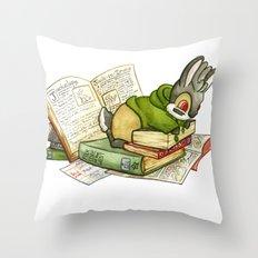 September Jackalope Throw Pillow