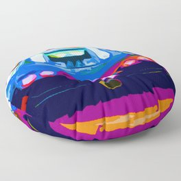 Bugatti Veyron On Rodeo  Floor Pillow