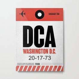 DCA Washington Luggage Tag 1 Metal Print
