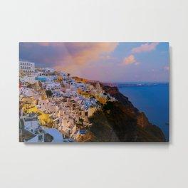 Santorini,Greece Metal Print