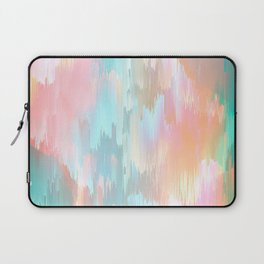 Candy Rainbow Glitch Fall #abstractart Laptop Sleeve