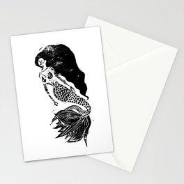 Mermaid Linocut Stationery Cards