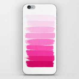 Luca - Ombre Brushstroke, pink girly trend art print and phone case for young trendy girls iPhone Skin