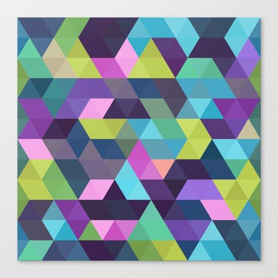 Colorful Geometric Background III Canvas Print