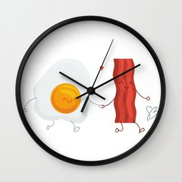 Be the Bacon to My Eggs Wall Clock