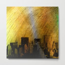 cityscape and colored sky -2- Metal Print