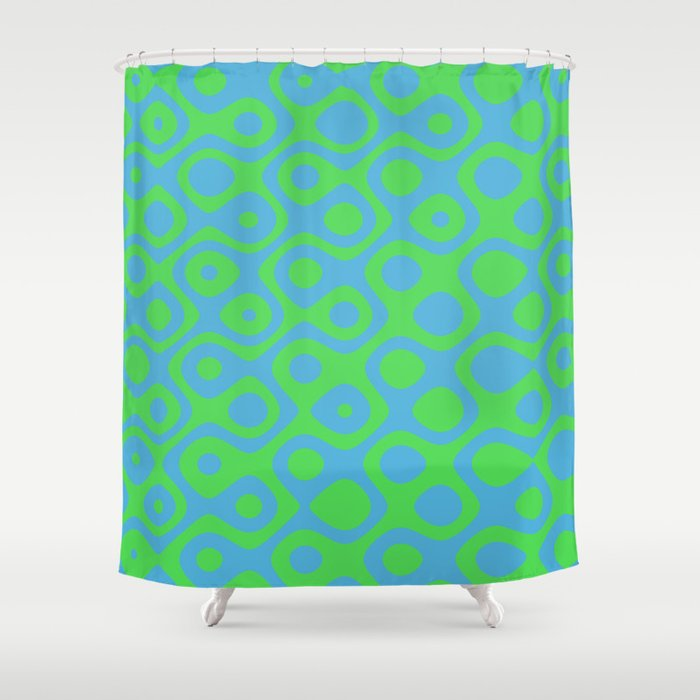 Brain Coral Green - Coral Reef Series 021 Shower Curtain