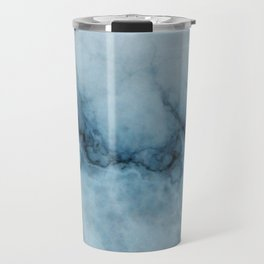 Blue marble abstraction Travel Mug