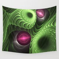 fractal Wall Tapestries featuring Fractal by nicky2342