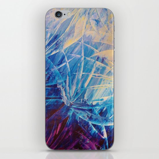 NIGHT FLOWERS - Beautiful Midnight Florals Feathers, Eggplant Lilac Periwinkle Cream Modern Abstract iPhone Skin