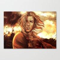 battlefield Canvas Prints featuring Battlefield by SirWendigo