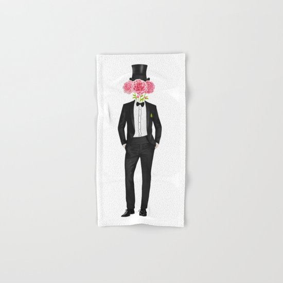Gentleman with flowers Hand & Bath Towel