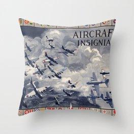 Aircraft Insignia Throw Pillow