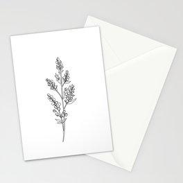 Botanical floral illustration line drawing - Mae Stationery Cards