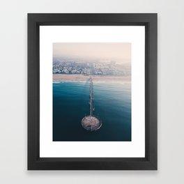 From Above | Venice Beach pier, California Framed Art Print