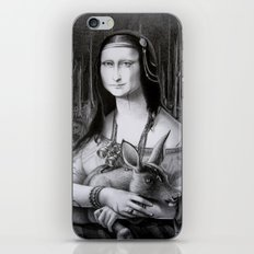 Mona Lisa in the forest iPhone & iPod Skin