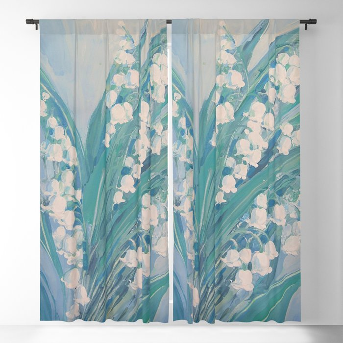 Lily of the valley Blackout Curtain