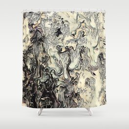 Texture Overlay Abstract Design Shower Curtain
